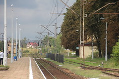 Wolica train station 16.08.2014 (szogun000) Tags: railroad building station canon platform tracks poland polska rail railway signals pkp interlockingtower wolica witokrzyskie kielecczyzna d298 canoneos550d canonefs18135mmf3556is