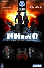 "=BFI// ""RHINO"" Armored Compression Vest (Niri Tries Fashion) Tags: blue promotion 3d armor rhino owl falcon vest product deco industries kojima rigi bfi harad kojimaindustries timecharger"