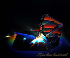 Harley Octahedron (Mystic Prism Studio) Tags: crystal oneofakind prism optical reflective handcrafted refractive illusive rainbowscape