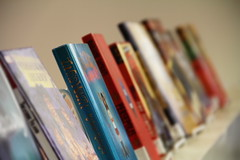 (Taylor William Jones) Tags: blue red vibrant library libraries books depth