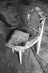 Shitty Lonely Chair #219 ([jonrev]) Tags: urban abandoned hotel ruins apartments arms exploring indiana gary ambassador residential destroyed commode apts decaying ue urbex cesspool