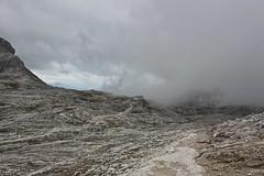 Altopiano lunare (Erika Gilraen Loss) Tags: house mountain hot cold beautiful clouds fire day unesco nebbia trentino dolomiti rosetta cima rifugio 2782 metri