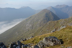 Cloud in Glen Kingie. On Sgurr Mor looking W to Coireachan. 12th September '14 (Hazel Strachan) Tags: mountains scotland munros arkaig
