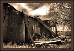 Hillsboro NM  Ruins (the Gallopping Geezer 2.65 million + views....) Tags: old newmexico southwest west abandoned film sepia canon ruins decay historic faded adobe worn western 1997 weathered wildwest hillsboro decayed geezer corel oldwest