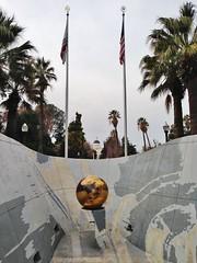 Golden State (ArtFan70) Tags: california ca sculpture usa art america globe downtown unitedstates flag albuquerque flags capitol sphere sacramento californiastatecapitol statecapitol downtownsacramento goldenstate dejarnett litaalbuquerque mitchelldejarnett capitolareaeastendcomplex