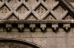 """Steetley, Whitwell, Derbyshire, """"Steetley Chapel"""", south porch, detail (groenling) Tags: door uk greatbritain england stone britain derbyshire stonecarving carving porch gb corbel whitwell churchofallsaints beakhead steetley steetleychapel"""
