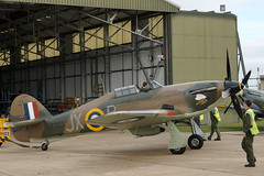 Hurricane LF363 - RAF Coningsby (Neil Pulling) Tags: hurricane lincolnshire airforce raf airbase hawkerhurricane battleofbritainmemorialflight bbmf coningsby rafconingsby lf363 hurricanelf363