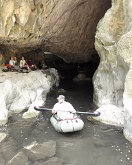 081 Boating In Lower Natural Bridge (saschmitz_earthlink_net) Tags: california creek floating inflatable cave raft cavern naturalbridges 2014 coyotecreek calaverascounty vallecito newmeloneslake carolvesely billfarr nsswesternregional lowernaturalbridge