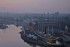 UK - Bristol - Sunrise from Cliftonwood (Harshil.Shah) Tags: uk morning england southwest west sunrise bristol dawn britain south united great kingdom gb avon ssgreatbritain brunel cliftonwood