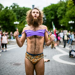 Predicator (Guillermo Murcia) Tags: portrait people urban hairy newyork outdoors person manhattan unique unionsquare guillermomurcia