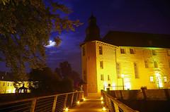 Schloss Dyck (ulrike.heck) Tags: castle night nightshot nrw dmmerung schloss nachtaufnahme 2014 jlich illumina dyck ulrikeheck