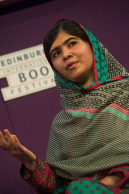 Education campaigner Malala Yousafzai gave an inspiring talk for school children at the Edinburgh International Book Festival