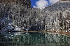 Mirror Lake (JB by the Sea) Tags: snow canada rockies mirrorlake alberta banff rockymountains lakelouise banffnationalpark canadianrockies september2014