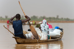 Niger Pirogue (Warriorwriter) Tags: poverty africa travel people sahara niger river photography village desert hippo development arid instability francophone sahel harmattan occupation niamey subsistence boubon westernafrica tillaberi