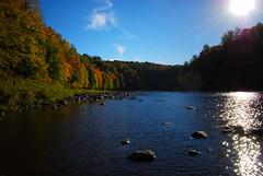 Rivire Bcancour (lildevilz) Tags: autumn sky color night automne season nikon rivire couleur saison saintwenceslas d40x centreduqubec