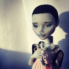 My loves (blackiechloe123) Tags: face up monster high doll ooak custom flocking repaint reroot yelps ghoulia