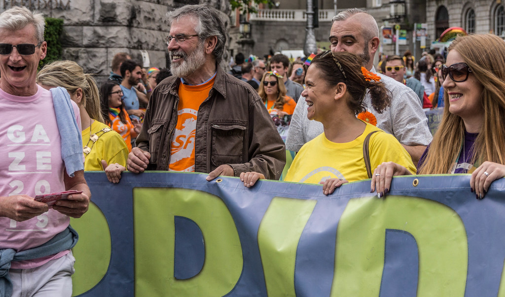 PRIDE PARADE 2015 - JERRY ADAMS AND MARY-LOU McDONALAD WERE THERE [WERE YOU THERE?]-REF-106315