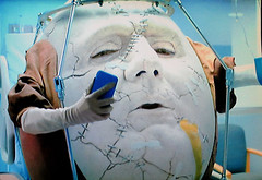 Humpty Dumpty Cell Phone 2039 (Brechtbug) Tags: humpty dumpty turbo tax commercial eggman convalescing hospital sunny side up 2017 detail extract surreal alice wonderland through looking glass type art egg man fairy tale character nursery rhyme fella screen grab screengrab