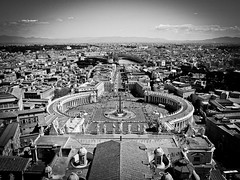 View from the rooftop of St. Peter Basilica (Halibel14) Tags: rome italy stpetersbasilica rooftop city lightroom olympus epl1