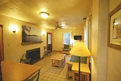 Cabin 9 living room from kitchen First Landing State Park (vastateparksstaff) Tags: cabin cinderblock 2bedroomcabin