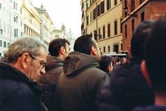 945413-30-30A-PfDF43 (eliskakosmatova) Tags: rome roma protest demonstration people analog analogue photography photos man crowd crowdy colors colours zorki zorki4k zorki4 camera kodak kinofilm retro vintage