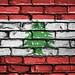 National Flag of Lebanon on a Brick Wall