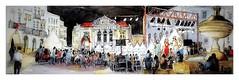 Evora - Alentejo - Portugal - festa noturna (guymoll) Tags: evora alentejo portugal croquis sketch aquarelle watercolour watercolor panoramique panoramic foule people