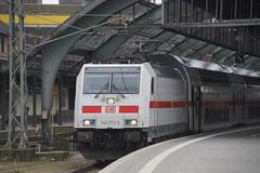 DB 146 572-3 met IC-2/TWINDEXX-VARIO in station van Oldenburg staat te wachten op vertrek als IC2431 naar Cottbus 17-03-2017 (marcelwijers) Tags: db 146 5723 met ic2twindexxvario station van oldenburg staat te wachten op vertrek als ic2431 naar cottbus 17032017 91 80 6146 ddb bombardier 35064 2015 traxx p160 ac2