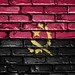 National Flag of Angola on a Brick Wall