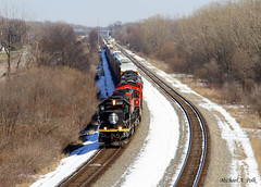 IC 6250 @ Dyer, IN (Michael Polk) Tags: ic illinois central sd403 l515 canadian national cn local freight train elgin joliet eastern eje deathstar