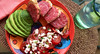 ~lifesgood~ (uteart) Tags: dinner basil gt oliveoil goatcheese abendbrot ontheterrace uteart spanishsalami mexicanavocado iphone5s italiencaprese