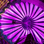 Sony Center Roof by night