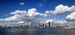 Seattle Panorama From Jack Block Park, June 16 2014