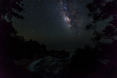 006_0799: Milky Way (Shawn-Yang) Tags: california park ca sky usa fall night way stars landscape photography star 1 waterfall big highway julia state cove falls burns galaxy sur milky pfeiffer celestial cabrillo ca1 mcway