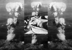 Favorite Pictures of the Warrior: Atomic Clouds (Hiroshima) - Victim of Atomic Bomb - Procrustes` Bed ~ Real: Bilder von Atomexplosionen findet der Krieger hinreissend, ja genau: hinreissend - Atombombenopfer - Prokrustesbett ~ in the mirror ~ im Spiegel (hedbavny) Tags: blackandwhite bw white reflection art collage mirror bed bett war spiegel digitalart explosion krieg hiroshima warrior schwarzweiss spiegelung nagasaki overkill atomicbomb krieger mirroring laken procrustes opfer weis verletzung atombombe schwarzweis tdlich vernichtung bikiniatoll atomiccloud atompilz verstmmelung polyptychon leintuch atomexplosion prokrustesbett atombombentest prokrustes procrustesbed hedbavny procustes ingridhedbavny atomwolke prokustes