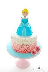 Cinderella Cake (Little Cottage Cupcakes) Tags: birthday cake ruffles princess ombre cinderella fondant sugarpaste littlegirlbirthdaycake littlecottagecupcakes