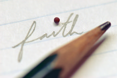 Faith the Size of a Mustard Seed (Dane Vandeputte) Tags: nikon d200 nikond200 f8 105mm macro faith mustard seed matthew bible christianity pencil paper lines writing cursive script letters word nikonafsvrmicronikkor105mmf28gifed scripture mustardseed challengegamewinner flickrchallengegroup flickrchallengewinner thechallengegame winnerschallenge