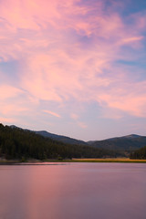 Pinky (J-nas) Tags: pink sunset lake forest landscape