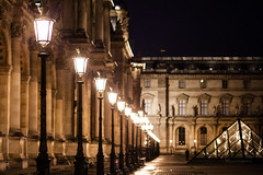 The Louvre By Night (Niall97) Tags: street city longexposure travel urban paris france streets tower art love bicycle seine canon buildings river photography eos 50mm prime europe vespa emotion louvre f14 capital citroen culture 85mm sigma eiffel 2cv l 5d fullframe f18 f28 markii 70200mm 2470mm cityoflove