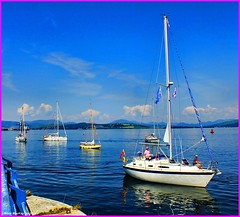 Scotland Greenock yachts arriving for the commonwealth games flotilla 25 July 2014 by Anne MacKay (Anne MacKay images of interest & wonder) Tags: by anne scotland greenock picture july games 25 mackay yachts commonwealth arriving flotilla 2014