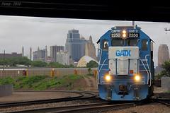 Southbound UP Auto Train at Kansas City, MO (Mo-Pump) Tags: railroad train locomotive railfan railroader