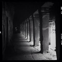 Corridor (anthonynicolet) Tags: blackandwhite temple cambodia angkorwat siemreap