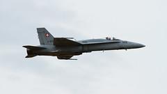 Swiss Air Force F/A-18C 4176 (RIAT 2014) (Thorbard) Tags: grey flying aircraft flight overcast airshow royalinternationalairtattoo fa18hornet swissairforce mcdonnelldouglasfa18chornet sigma120300mmf28dgoshsmsport riat2014