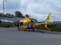 Air Ambulance G-TAAS Matlock (Guy Arab UF) Tags: station leicestershire derbyshire air rail ambulance helicopter augusta rutland westland matlock interchange gtaas aw1095p