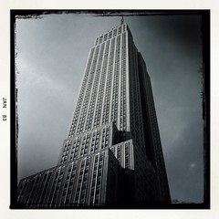 #nyc #landmark #building #iconic (danielle moir photo) Tags: nyc newyork building architecture skyscraper square manhattan streetphotography icon squareformat empire empirestatebuilding tall iconic newyorknewyork streetscenes reportage iphoneography instagramapp uploaded:by=instagram