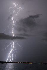 August Thunderstorm (nastynathan) Tags: lake weather clouds photography nathan florida gates cumulus monroe lightning thunder sanford severe thunderstorms