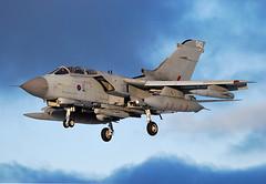 Golden GR4 (np1991) Tags: uk light sky sun snow dark golden scotland force air united royal kingdom tornado raf moray squadron 617 lossiemouth dambusters sqn lossie gr4