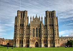 Wells Cathedral (~T.J~) Tags: uk england building church architecture landscape cathedral wells wellscathedral historical canonef1740mmf4l