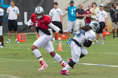 Panthers Training Camp - August 2nd (18 of 70) (Quentin Biles) Tags: sc canon football nfl southcarolina practice trainingcamp spartanburg carolinapanthers 100400l nationalfootballleague woffordcollege 5d3 5dmarkiii