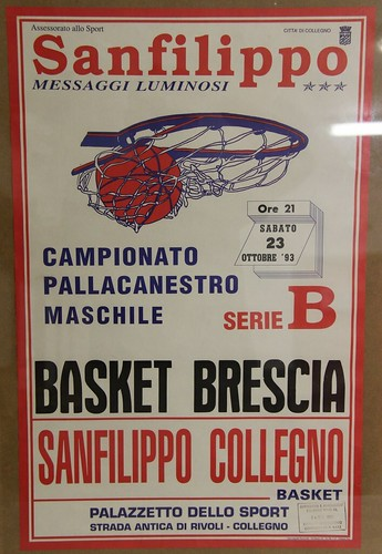 Manifesto Collegno Basket vs. Basket Brescia - Serie B Maschile